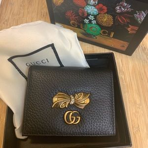 Gucci Black Bow Wallet